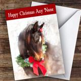 Festive Horse Animal Customised Christmas Card