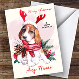 Beagle Dog Animal Customised Christmas Card