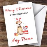 Cute Dog & Cat Watercolour Cute Customised Christmas Card