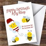 Oh Christmas Bee Cute Customised Christmas Card