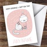Meowry Cat Cute Customised Christmas Card