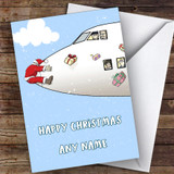 Santa Pilot Plane Funny Joke Customised Christmas Card