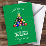 Snooker Funny Pot A Great Xmas Hobbies Customised Christmas Card