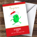 Running Funny Runner Bean Hobbies Customised Christmas Card