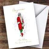 Fashion Too Glam Female Hobbies Customised Christmas Card