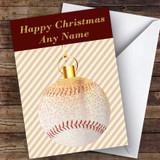 Gold & Stripes Baseball Hobbies Customised Christmas Card