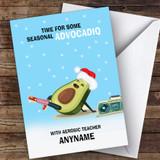 Aerobic Funny Avocadio Hobbies Customised Christmas Card