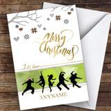 Dance Silhouette Style Hobbies Customised Christmas Card