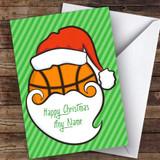 Basketball Santa Face Hobbies Customised Christmas Card
