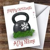 Kettlebell Gym Weight Hobbies Customised Christmas Card
