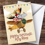 Mousse Flying A Plane Hobbies Customised Christmas Card