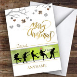 Rock Silhouette Style Hobbies Customised Christmas Card