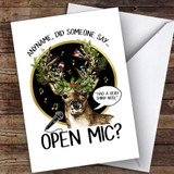 Karaoke Funny Rudolf Hobbies Customised Christmas Card