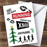 Running Jogger Funny Hobbies Customised Christmas Card