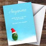 Skiing Funny Avocado Hobbies Customised Christmas Card