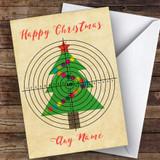 Archery Tree Target Hobbies Customised Christmas Card