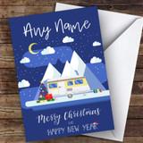 Camping Caravan Rv Hobbies Customised Christmas Card