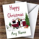 Caravan Rv Camping Hobbies Customised Christmas Card