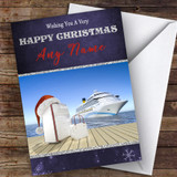 Cruise Ship Liner Hobbies Customised Christmas Card