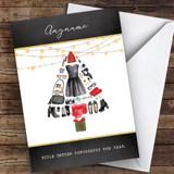 Fashion Xmas Tree Hobbies Customised Christmas Card