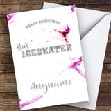 Ice-skating Star Hobbies Customised Christmas Card