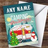 Camping Caravan Hobbies Customised Christmas Card
