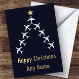 Aeroplane Tree Hobbies Customised Christmas Card