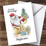 Pottery Santa Hobbies Customised Christmas Card