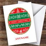 Cross Stitch Hobbies Customised Christmas Card