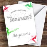 Juggling Hobbies Customised Christmas Card