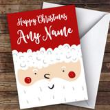 Large Santa Face Modern Customised Christmas Card