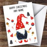 Elf Gnome Feet Modern Customised Christmas Card