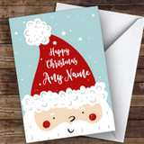 Santa In Hat Modern Customised Christmas Card