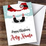 Santa's Legs Modern Customised Christmas Card