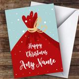 Santa's Sack Modern Customised Christmas Card