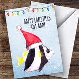 Coral Fish Modern Customised Christmas Card