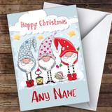 Cute Elves Modern Customised Christmas Card