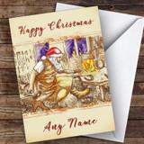 Blacksmith Farrier Santa Traditional Customised Christmas Card