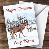 Santa Blacksmith Farrier Traditional Customised Christmas Card