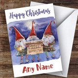 Singing Elves Traditional Customised Christmas Card