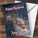 Snowy Train Traditional Customised Christmas Card