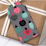 Modern Grey Christmas Gift Tags