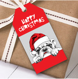 Peeking Dog Christmas Gift Tags