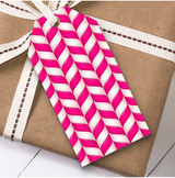 Pink Twists Christmas Gift Tags
