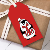 Red Penguin Christmas Gift Tags