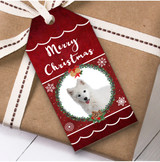 Samoyed Dog Christmas Gift Tags