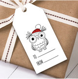 To From Owl Christmas Gift Tags