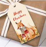 Vintage Fox Christmas Gift Tags