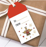 Angel Bell Christmas Gift Tags