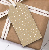 Beige Dots Christmas Gift Tags